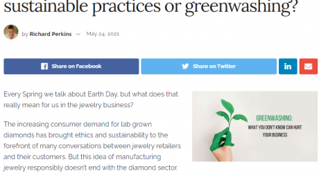 Sustainable Jewelry Manufacturing Practices or Greenwashing?